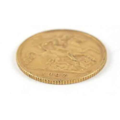 534 - Edward VII 1907 gold half sovereign - this lot is sold without buyer's premium, the hammer price is ...