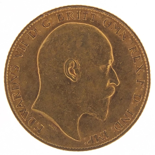 527 - Edward VII 1910 gold half sovereign - this lot is sold without buyer's premium, the hammer price is ...
