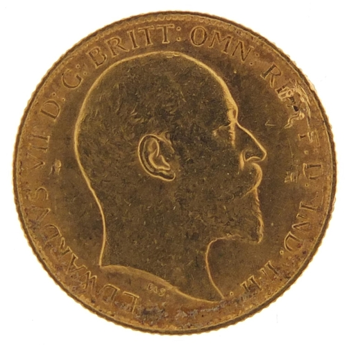 516 - Edward VII 1910 gold half sovereign - this lot is sold without buyer's premium, the hammer price is ...