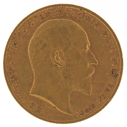 482 - Edward VII 1910 gold half sovereign - this lot is sold without buyer's premium, the hammer price is ...