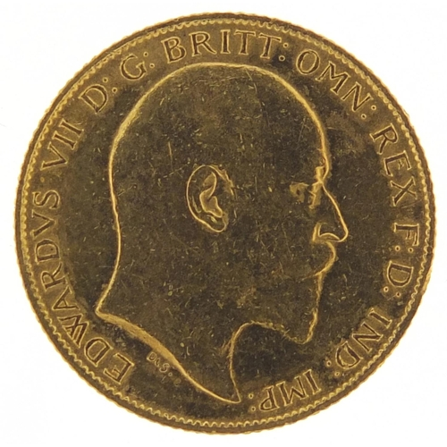 494 - Edward VII 1909 gold half sovereign - this lot is sold without buyer's premium, the hammer price is ...