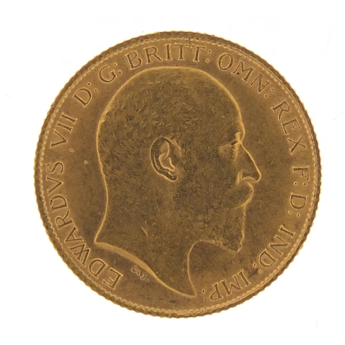 502 - Edward VII 1908 gold half sovereign - this lot is sold without buyer's premium, the hammer price is ...