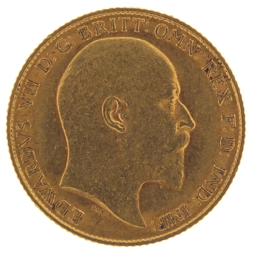 506 - Edward VII 1908 gold half sovereign - this lot is sold without buyer's premium, the hammer price is ...