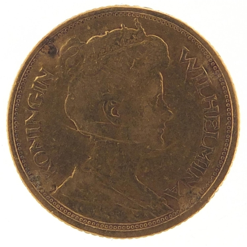 518 - Dutch 1912 gold five guilders - this lot is sold without buyer's premium, the hammer price is the pr...