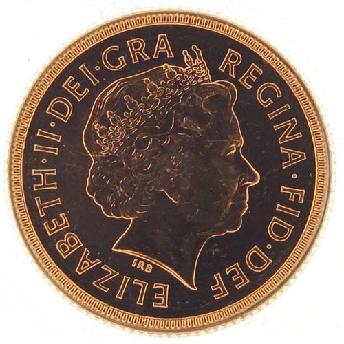 484 - Elizabeth II 2000 gold sovereign - this lot is sold without buyer's premium, the hammer price is the...