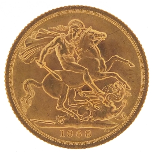 493 - Elizabeth II 1968 gold sovereign - this lot is sold without buyer's premium, the hammer price is the...