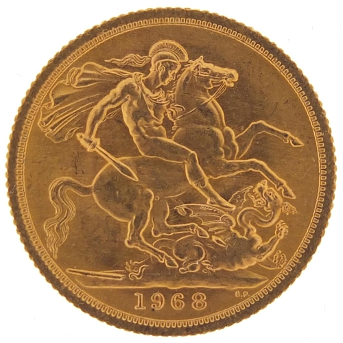 514 - Elizabeth II 1968 gold sovereign - this lot is sold without buyer's premium, the hammer price is the...