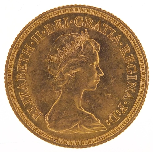 533 - Elizabeth II 1974 gold sovereign - this lot is sold without buyer's premium, the hammer price is the...