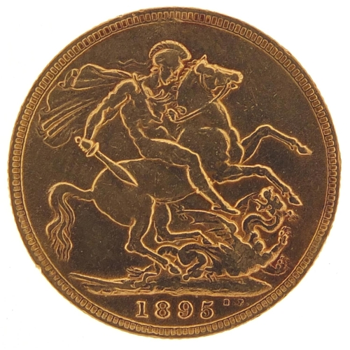 Queen Victoria 1895 gold sovereign - this lot is sold without buyer's premium, the hammer price is the price you pay