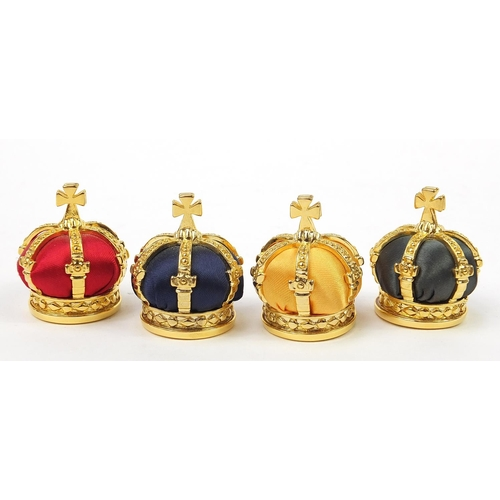 40 - Set of four Fabergé Collection menu holders housed in a fitted silk and velvet lined case, each menu...