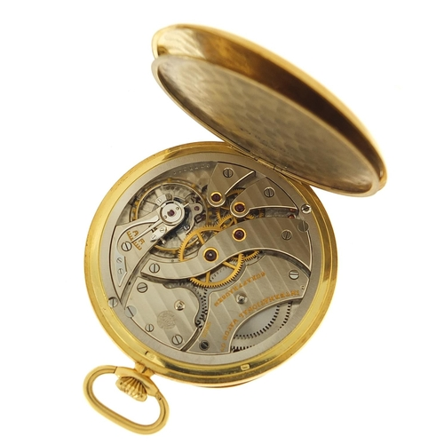 45 - International Watch Co, gentlemen's 18ct gold open face pocket watch with subsidiary dial, the case ...