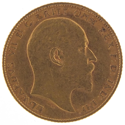 704 - Edward VII 1907 gold half sovereign - this lot is sold without buyer's premium, the hammer price is ...