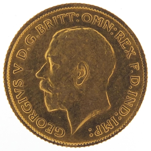 678 - George V 1915 gold half sovereign - this lot is sold without buyer's premium, the hammer price is th...
