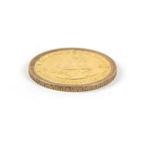 687 - South African 1982 gold 1/10th krugerrand - this lot is sold without buyer's premium, the hammer pri...