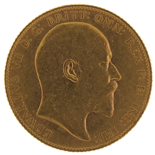 709 - Edward VII 1909 gold sovereign - this lot is sold without buyer's premium, the hammer price is the p...