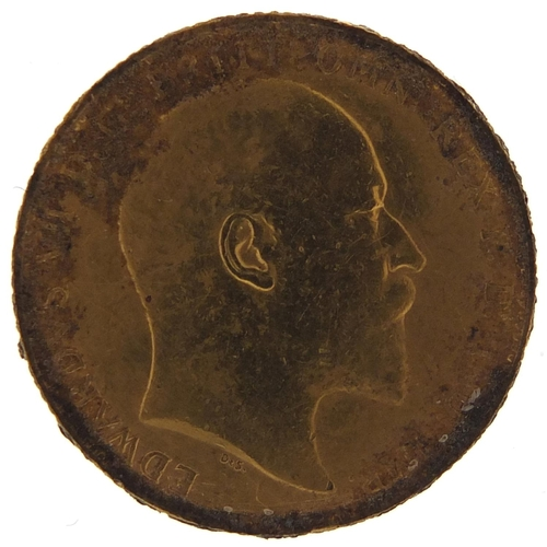 693 - Edward VII 1910 gold sovereign - this lot is sold without buyer's premium, the hammer price is the p...
