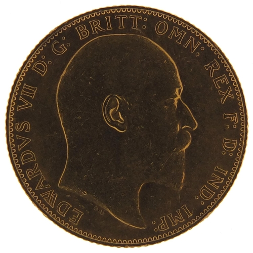 696 - Edward VII 1907 gold sovereign - this lot is sold without buyer's premium, the hammer price is the p...