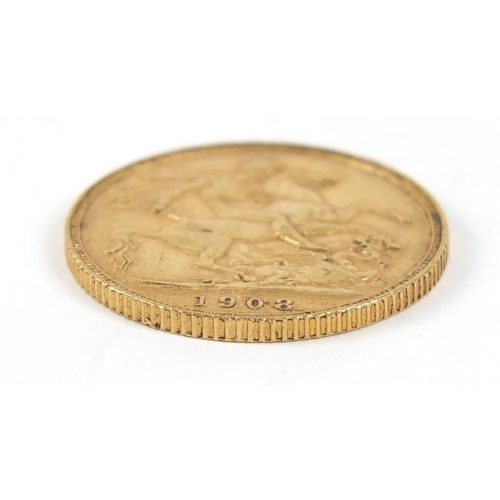 686 - Edward VII 1908 gold sovereign - this lot is sold without buyer's premium, the hammer price is the p...
