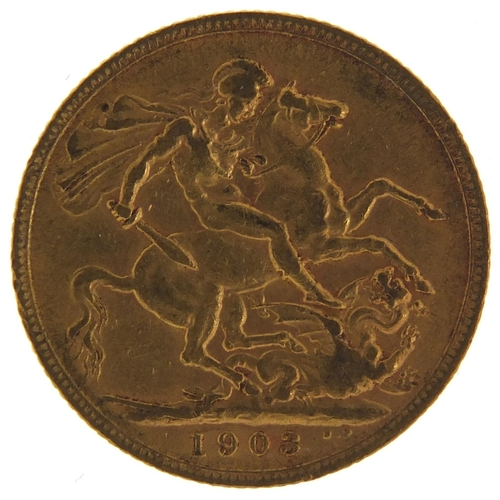 681 - Edward VII 1903 gold sovereign - this lot is sold without buyer's premium, the hammer price is the p...