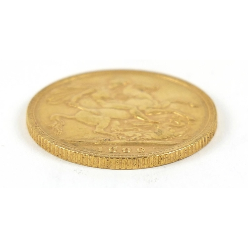 674 - Edward VII 1906 gold sovereign - this lot is sold without buyer's premium, the hammer price is the p...