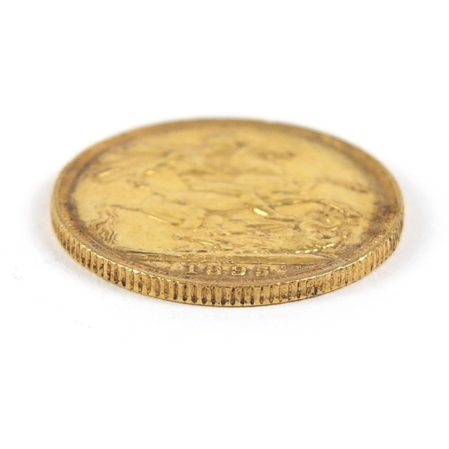 659 - Queen Victoria 1895 gold sovereign, Sydney Mint - this lot is sold without buyer's premium, the hamm...