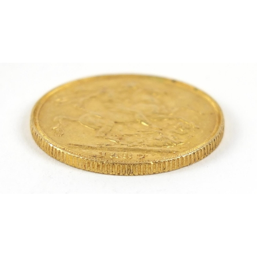664 - Queen Victoria Jubilee Head 1887 gold sovereign - this lot is sold without buyer's premium, the hamm...