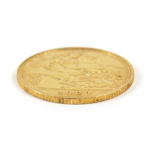 667 - Edward VII 1909 gold half sovereign - this lot is sold without buyer's premium, the hammer price is ...