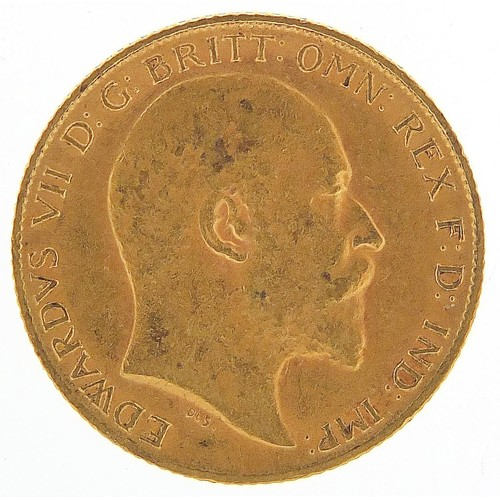 699 - Edward VII 1909 gold half sovereign - this lot is sold without buyer's premium, the hammer price is ...