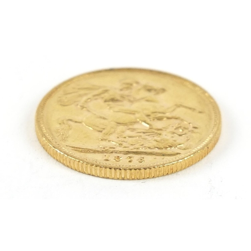 703 - Victoria Young Head 1876 gold sovereign, Sydney mint - this lot is sold without buyer's premium, the...