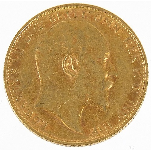 701 - Edward VII 1907 gold sovereign, Melbourne mint - this lot is sold without buyer's premium, the hamme...