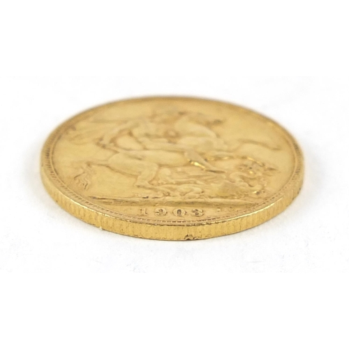 669 - Edward VII 1903 gold sovereign - this lot is sold without buyer's premium, the hammer price is the p...