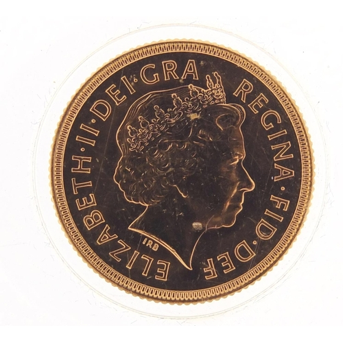 694 - Elizabeth II 2000 gold sovereign - this lot is sold without buyer's premium, the hammer price is the...