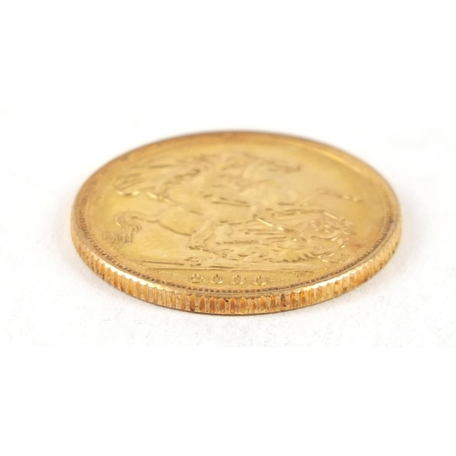 707 - Elizabeth II 2000 gold sovereign - this lot is sold without buyer's premium, the hammer price is the...