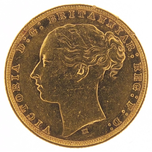 657 - Victoria Young Head 1879 gold sovereign, Melbourne mint - this lot is sold without buyer's premium, ...