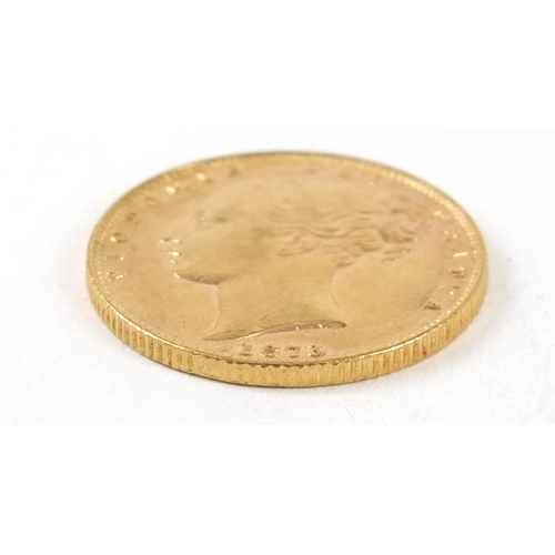668 - Victoria Young Head 1873 shield back gold sovereign - this lot is sold without buyer's premium, the ...