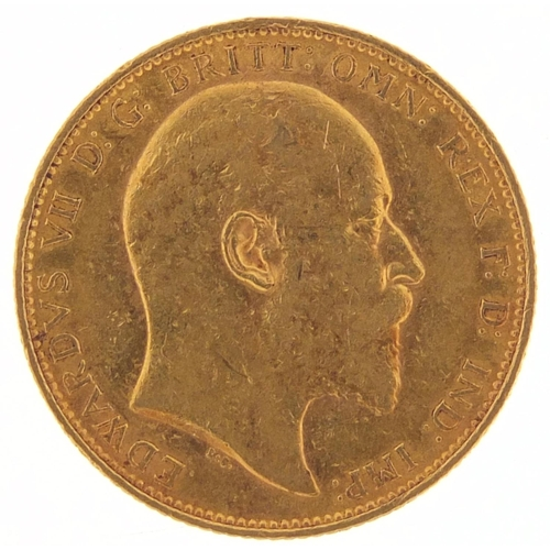 706 - Edward VII 1903 gold sovereign, Melbourne mint - this lot is sold without buyer's premium, the hamme...