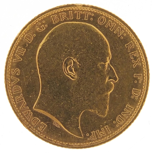 708 - Edward VII 1908 gold sovereign, Melbourne mint - this lot is sold without buyer's premium, the hamme...