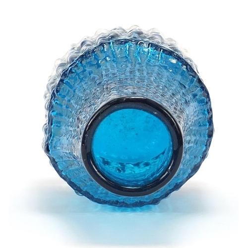 52 - Geoffrey Baxter for Whitefriars, kingfisher blue bottle vase, 20.5cm high