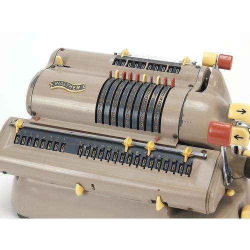 21 - Vintage Walther mechanical calculator model WSR 460, serial number 173119, 28.5cm wide