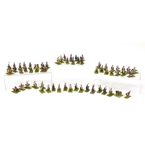 Collection of military interest hand painted lead cavalry horsemen, each approximately 4.5cm high
