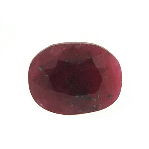 Ruby gemstone with certificate, 11.95 carat