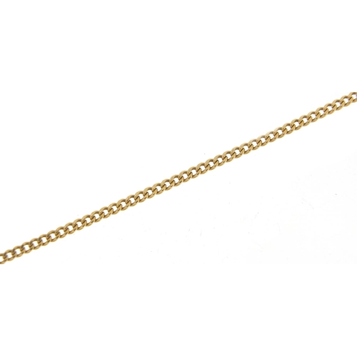 Unmarked gold necklace, (tests as 9ct gold) 60cm in length, 7.7g