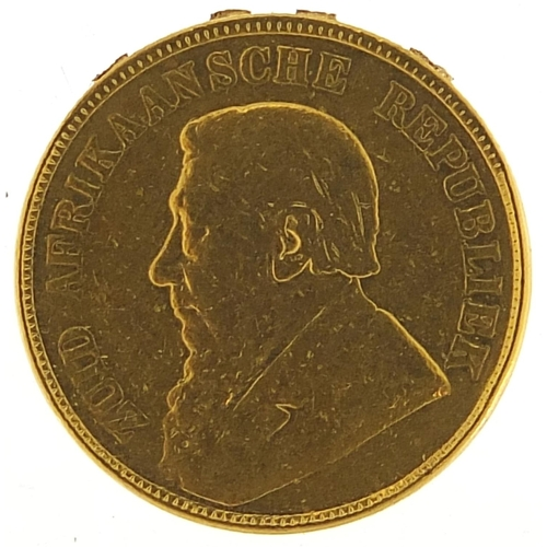 656 - South African 1898 gold pond - this lot is sold without buyer's premium, the hammer price is the pri...