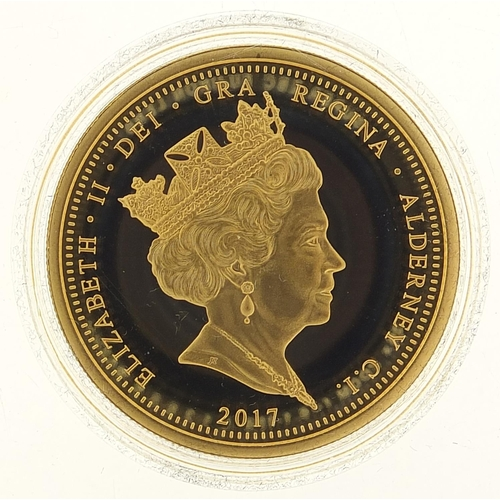680 - Elizabeth II 2017 Diana, Princess of Wales gold proof five pound coin, minted fifty by Hattons of Lo...