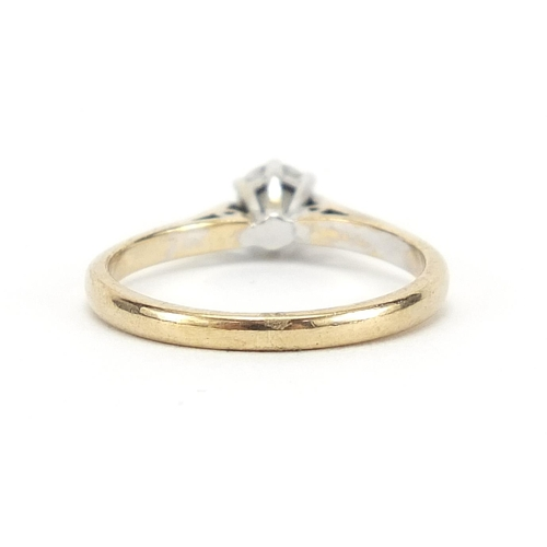59 - 9ct gold diamond solitaire ring, 0.25 carat, size L, 1.7g