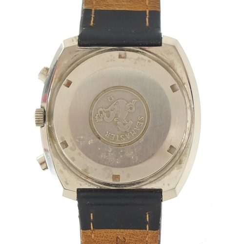 38 - Omega, gentlemen's Speedsonic F300 electronic chronometer wristwatch with day/date aperture, box and...