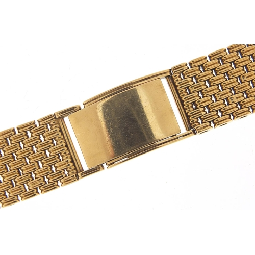 58 - 9ct gold watch strap, 15cm in length when closed, 1.7cm wide, 46.5g