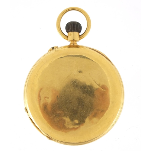 5 - J W Benson, gentlemen's 18ct gold full hunter pocket watch, the movement engraved The Field 1734, 51...