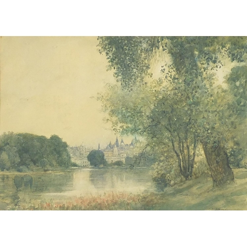 Peter Alexander Hay - St. James Palace, London, watercolour, mounted, framed and glazed, 34.5cm x 24.5cm excluding the mount and frame