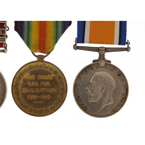 2435 - British military Victorian and later four medal group relating to PTE W G Day comprising Queen's Sou...